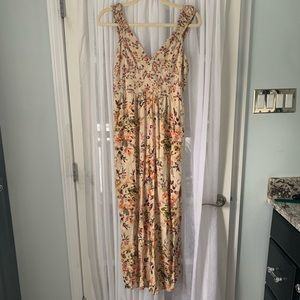 Angie yellow floral jumpsuit